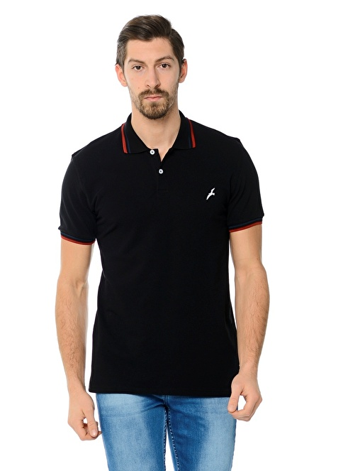 Dewberry Polo Yaka Tişört Siyah